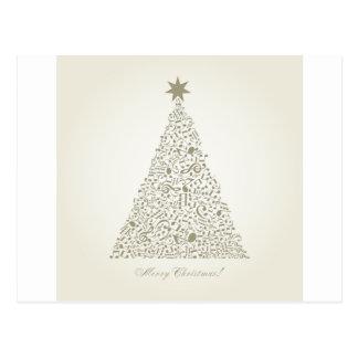 Cartão Postal Árvore de Natal musical