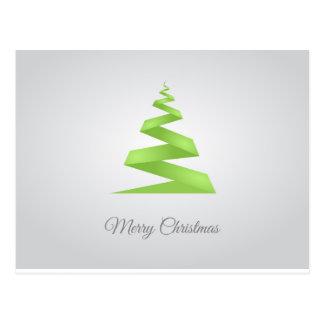 Cartão Postal Árvore de Natal simples da fita do Natal