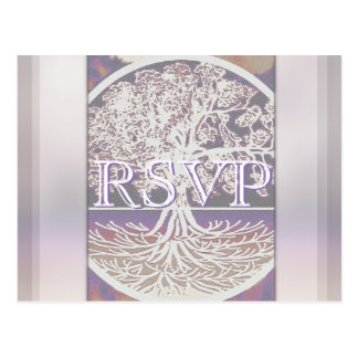 Cartão Postal Árvore de RSVP | de vida