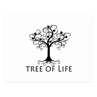 Cartão Postal Árvore de vida, árvore do redemoinho, romã