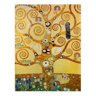 Cartão Postal Árvore de vida por Klimt