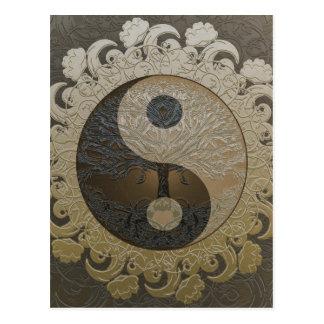 Cartão Postal Árvore de vida Yin Yang por Amelia Carrie