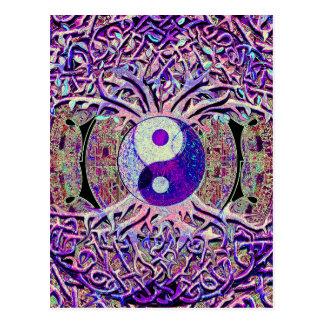 Cartão Postal Árvore de vista impressionante de Yin Yang