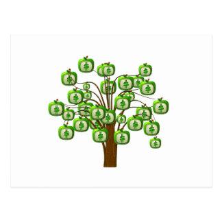 Cartão Postal árvore do dinheiro