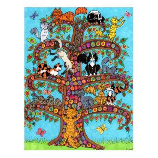 Cartão Postal Árvore do gato de vida 2