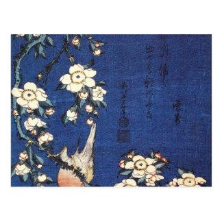 Cartão Postal Árvore do Goldfinch e de cereja, c.1834 por