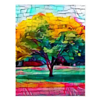 Cartão Postal Árvore do outono em cores vívidas