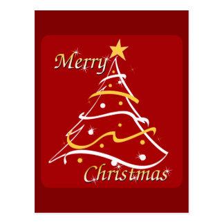 Cartão Postal Árvore do vermelho do Feliz Natal