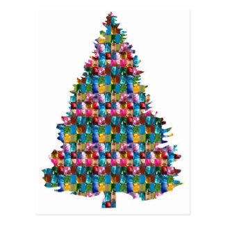Cartão Postal Árvore enchida GEMA do XMAS:  Feliz Natal