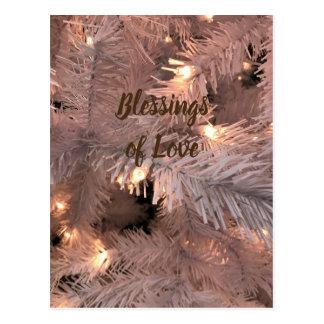 Cartão Postal Árvore iluminada caxemira