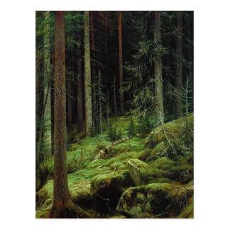 Cartão Postal Arvoredos de Ivan Shishkin-