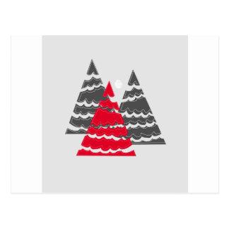 Cartão Postal Árvores de Natal minimalistas