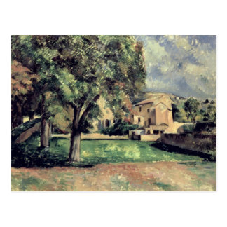 Cartão Postal Árvores em um parque, Jas de Bouffan, 1885-87