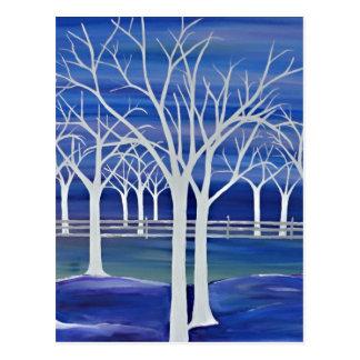 Cartão Postal Árvores violetas