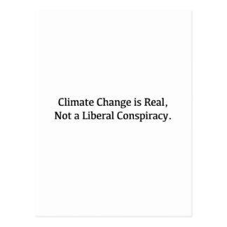 Cartão Postal As alterações climáticas são reais, não uma