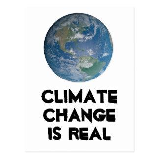 Cartão Postal As alterações climáticas são reais. Proteja o