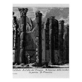 Cartão Postal As antiguidade romanas, T. 1, placa XXII. Templo…