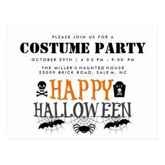 Cartão Postal As aranhas e o partido do traje do Dia das Bruxas