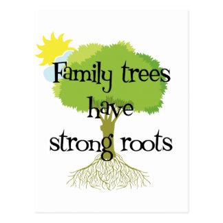 Cartão Postal As árvores genealógicas têm raizes fortes