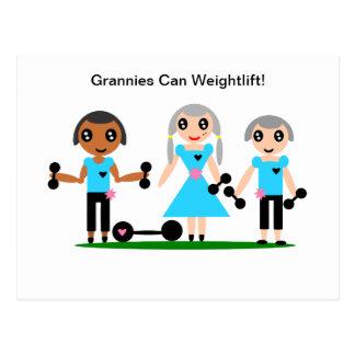 Cartão Postal As avós enlatam Weightlift