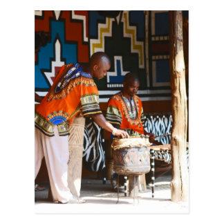 Cartão Postal As batidas do cilindro de África