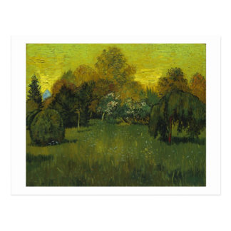 Cartão Postal As belas artes de Van Gogh do jardim do poeta