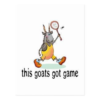 Cartão Postal As cabras obtiveram o jogo