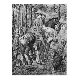 Cartão Postal As caças de Maximilian, Leo, a caça do veado