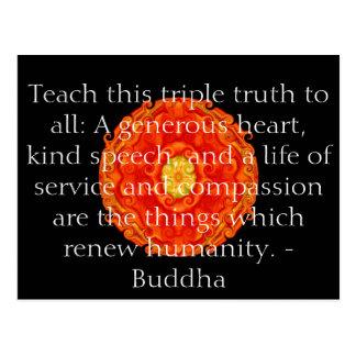 Cartão Postal As citações de Buddha inspiram inspirador