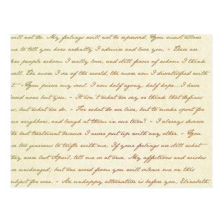 Cartão Postal As citações do melhor de Jane Austen