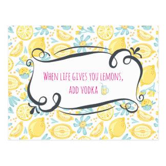 Cartão Postal As citações engraçadas quando a vida lhe dá