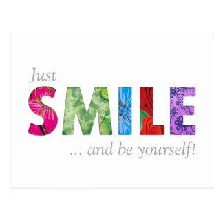 Cartão Postal As citações felizes 02 do sorriso - seja você