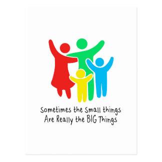 Cartão Postal As coisas pequenas são realmente as coisas grandes