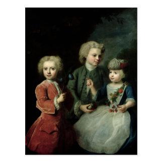 Cartão Postal As crianças do conselheiro Barthold