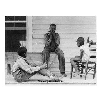 Cartão Postal As crianças do Sharecropper, Ca 1935