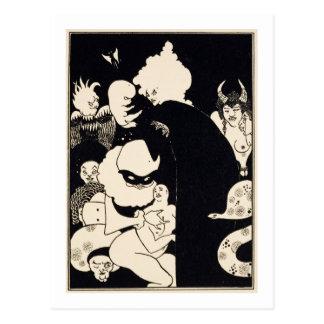 Cartão Postal As criaturas estranhas de Lucian, ilustração 'de