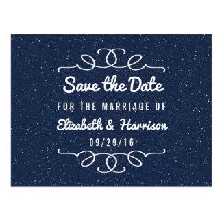 Cartão Postal As economias do casamento da noite estrelado a