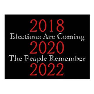 Cartão Postal As eleições estão vindo as pessoas recordam
