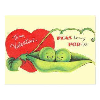 Cartão Postal As ervilhas sejam meu Podner