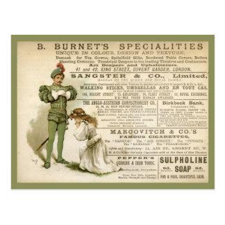 Cartão Postal As especialidades de Burnet