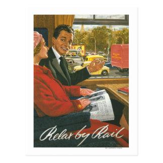 Cartão Postal As estradas de ferro britânicas relaxam pelo