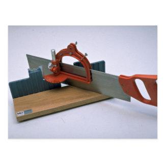 Cartão Postal As ferramentas da caixa de mitra de comércio com