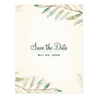 Cartão Postal As folhas botânicas do eucalipto verde salvar a