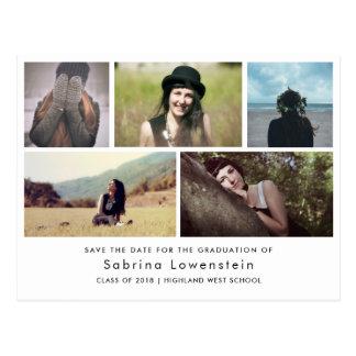 Cartão Postal As fotos minimalistas do formando cinco salvar a