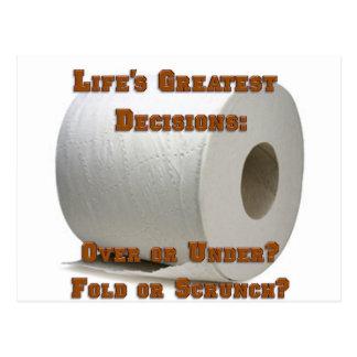 Cartão Postal As grandes decisões da vida