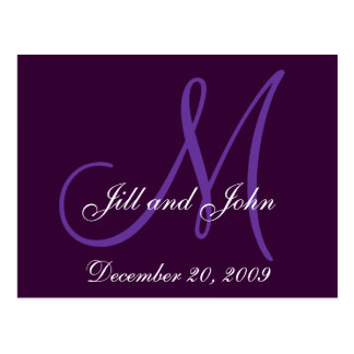 Cartão Postal As iniciais roxas dos nomes do Lilac salvar o