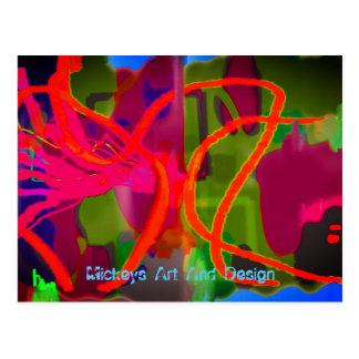 Cartão Postal As linhas e Tings pela arte e pelo design de