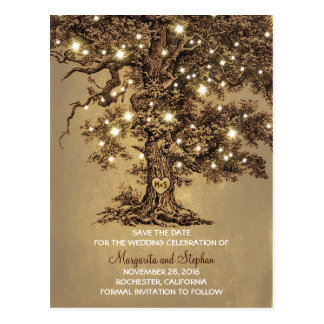 Cartão Postal as luzes velhas rústicas do carvalho salvar os