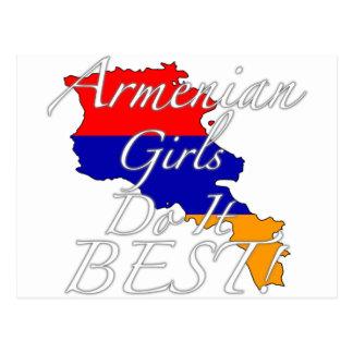 Cartão Postal As meninas arménias fazem-no melhor!