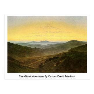 Cartão Postal As montanhas gigantes por Caspar David Friedrich